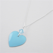 Picture of Aquamarine Heart Necklace