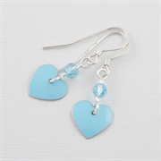 Picture of Aquamarine Heart Earrings