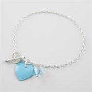 Picture of Aquamarine Heart Bracelet