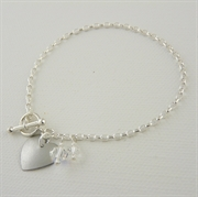 Picture of Diamond Heart Bracelet