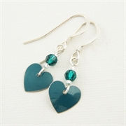 Picture of Emerald Heart Earrings