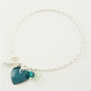 Picture of Emerald Heart Bracelet
