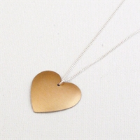Picture of Copper Rose Round Heart Necklace JS2