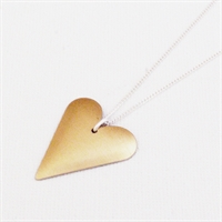 Picture of Copper Rose Slim Heart Necklace JS1