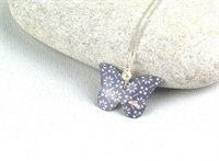 Picture of Grey Chambray Butterfly & Pearl Necklace  J5B