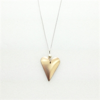 Picture of Copper Rose Slim Heart & Pearl Necklace JS1P