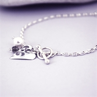 Picture of Grey Chambray Slim Heart Toggle Bracelet
