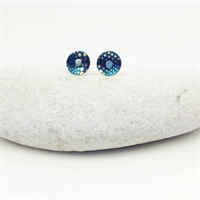 Picture of Geo Blue Small Round Studs