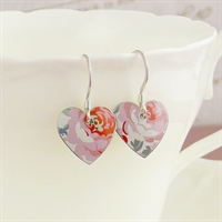 Picture of Pretty Floral Round Heart Earrings