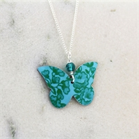 Picture of Turquoise Butterfly & Crystal Necklace