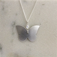 Picture of Aluminium Butterfly & Crystal Necklace