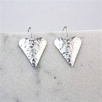 Picture of Hammered Aluminium Medium Heart Earrings