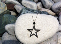 Picture of Black Aluminium Star Necklace JS11-Black