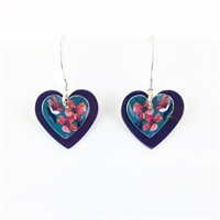 Picture of Jade Double Heart Earrings