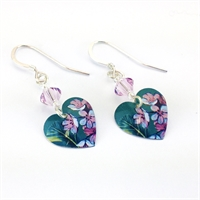 Picture of Jade Heart Earrings with Swarovski crystal