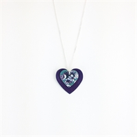 Picture of  Jade Round Double Heart Necklace