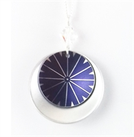 Picture of Stellar Moon Crystal Double Disc Necklace