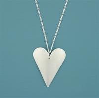 Picture of Aluminium Medium Slim Heart Necklace