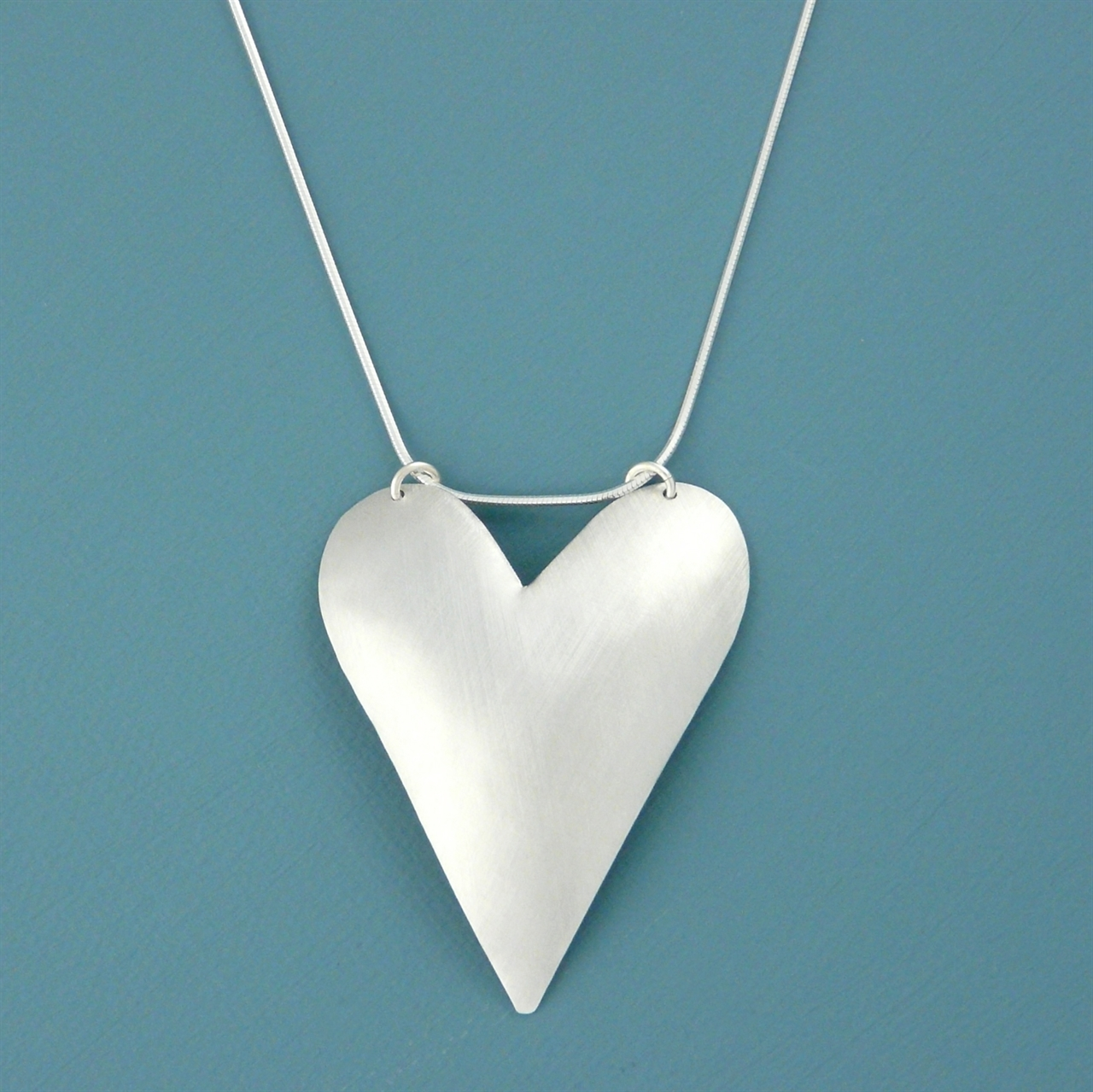 Aluminium large heart necklace handmade jewellery by kate hamilton picture of aluminium large heart necklace js13 a mozeypictures Gallery