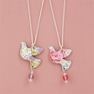 Picture of Child's Dove & Crystal Necklace