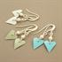 Picture of Bridesmaid Slim Heart & Pearl Earrings (Short Earwire)