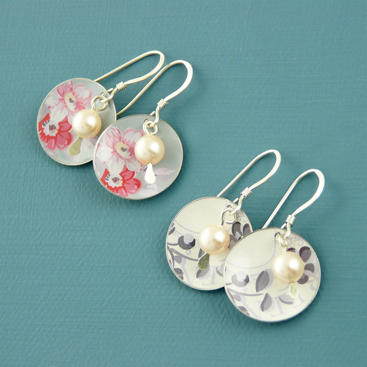 Mother of the Bride Disc & Pearl Earrings | Handmade Jewellery by ...
