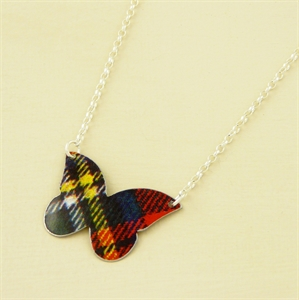 Picture of Tartan Large Butterfly Necklace