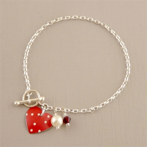 Picture of Spotty Round Heart Toggle Bracelet