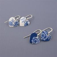 Picture of Denim Round Heart Earrings JE15-de