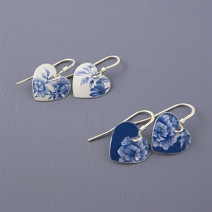 Picture of Denim Round Heart Earrings JE15-de