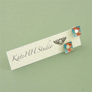 Picture of Bright Floral Square Studs
