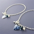 Picture of Denim Round Heart Toggle Bracelet