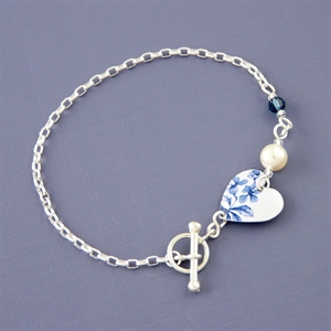 Picture of Denim Linked Heart Bracelet