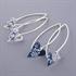 Picture of Denim Heart Earrings on medium earrwires JE17-de