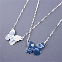Picture of Denim Butterfly Necklace JS80-de