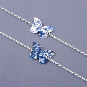 Picture of Denim Butterfly Bracelet