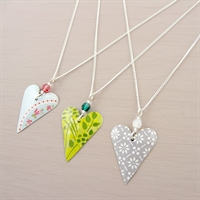 Picture of Slim Heart & Crystal Necklace
