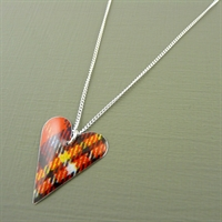 Picture of Tartan Slim Heart Necklace