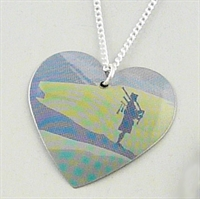 Picture of Scottish Piper Round Heart Pendant