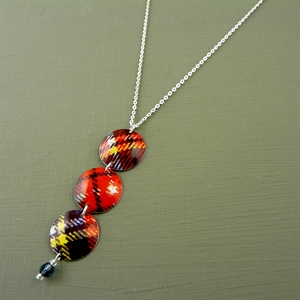 Picture of Tartan Three Disc & Crystal Necklace