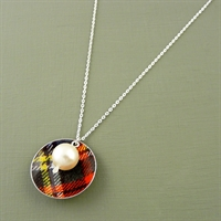 Picture of Tartan Disc & Pearl Necklace