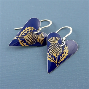 Picture of Thistle Medium Heart Earrings