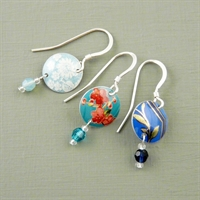 Picture of Disc & Crystal Earrings (Small Earwire) VS-E70