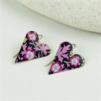 Picture of Liberty Print Medium Heart Earrings JE12-L
