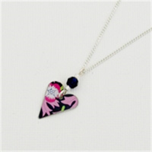 Picture of Liberty Small Slim Heart & Crystal Necklace JS14B