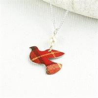 Picture of Tartan Petite Dove Necklace