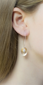 Picture of Copper Rose Oval & Pearl Earrings