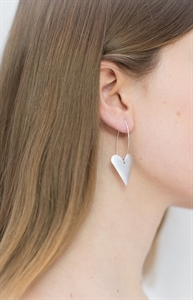 Picture of  Aluminium Medium Heart Long Earrings