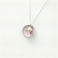 Picture of Emily Jane Small Disc and Pearl Pendant JS45