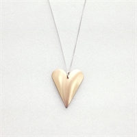 Picture of Copper Rose Medium Slim Heart Necklace